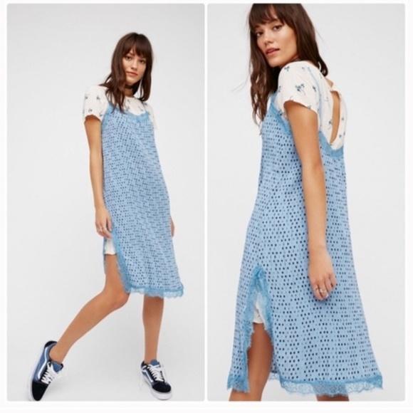 ba96a8401a4f Free People Dresses | Nwt Blue Margot Slip Tshirt Dress | Poshmark